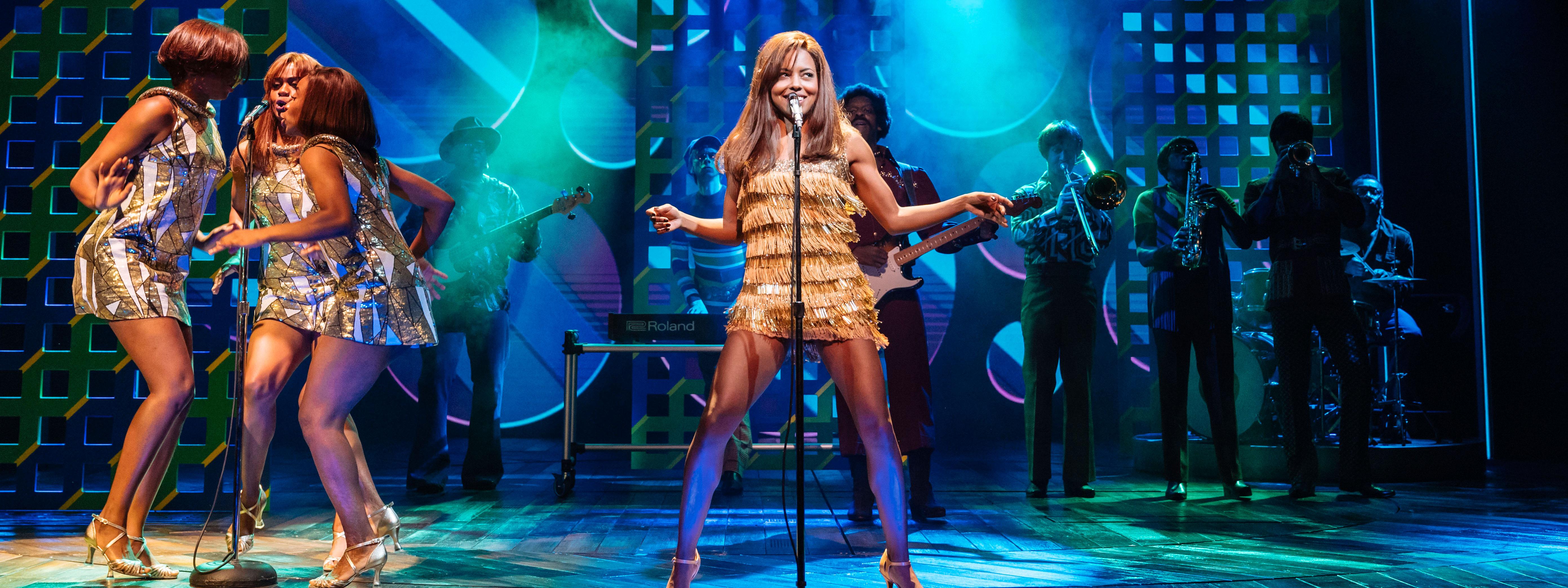 Actress performing as Tina Turner at a musical